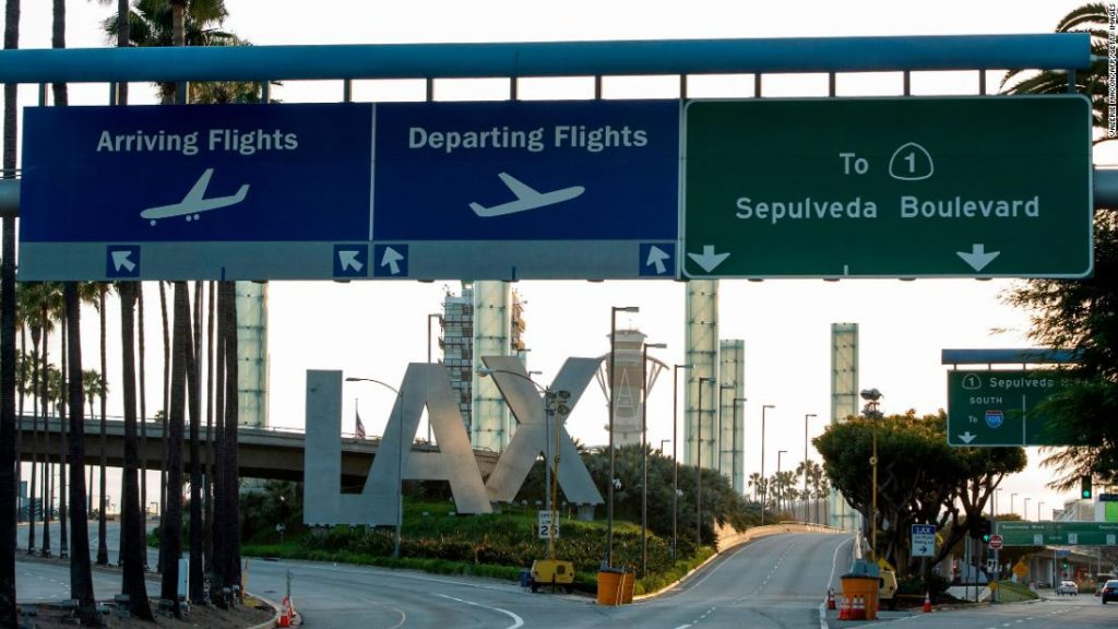 A man flying in a jetpack has been spotted again at LAX
