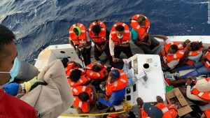 Cruise ship moored off Florida rescues 24 people from sinking boat